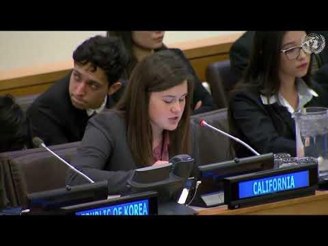 Apresentação dos protótipos do projeto Global Classroom STEAM na ONU.