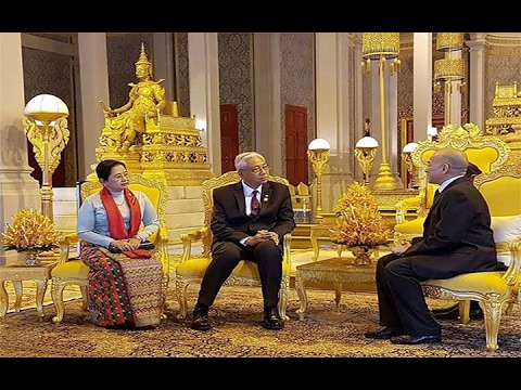 04 FEB 2017 His Majesty the King Grants Royal Audience to Myanmar President
