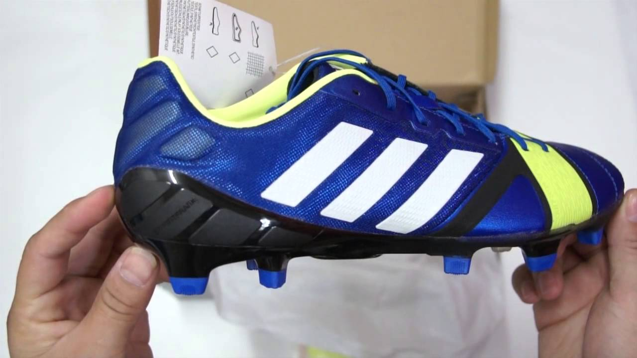 26a71d243 Unboxing adidas Nitrocharge 1.0 TRX FG Blue Beauty Running White - YouTube