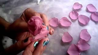 Como fazer rosa de tecido com Juliana Souza