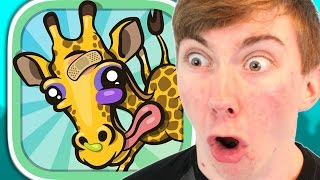 GIRAFFE WINTER SPORTS SIMULATOR (iPhone Gameplay Video)