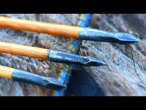 How to Make a Forged Steel Bodkin Arrowhead From a Rebar