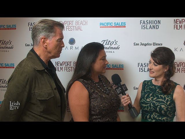 Keely Shaye Brosnan & Pierce Brosnan Chat with Brigid Boden IrishETV About Movie Poisoning Paradise