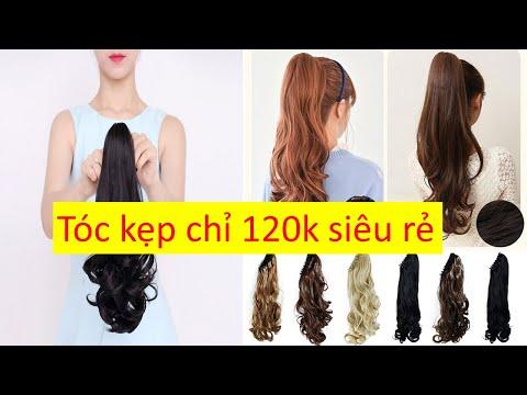 Mua tóc giả cột tóc kẹp ơ đấu rẻ chỉ 100k