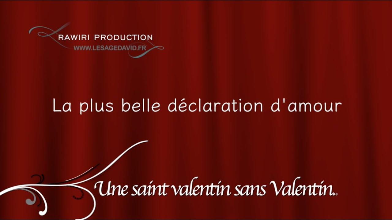 david lesage la plus belle d claration d 39 amour une saint valentin sans valentin youtube. Black Bedroom Furniture Sets. Home Design Ideas