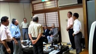 多良見町議OB会・2011/7 滝口副議長メッセージ、他大勢参集しました.