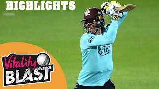 Surrey v Middlesex | Foakes Impresses in Low-Scoring Thriller | Vitality Blast 2020 Highlights