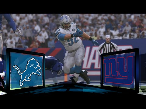 Madden NFL 17 Detroit Lions Franchise- Year 1 Wildcard Round at New York Giants