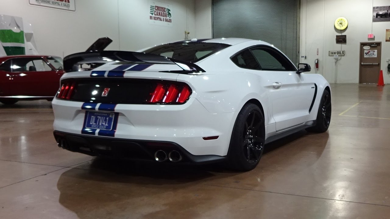2017 Ford Mustang Shelby Gt350r In White Paint Engine Sound On My Car Story With Lou Coile You