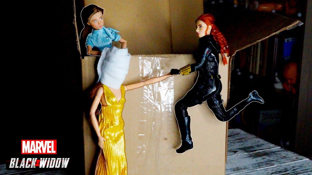 ЧЁРНАЯ ВДОВА кукла Дисней! Наташа Романофф / Marvel Black Widow Disney Doll / Barbie Doll