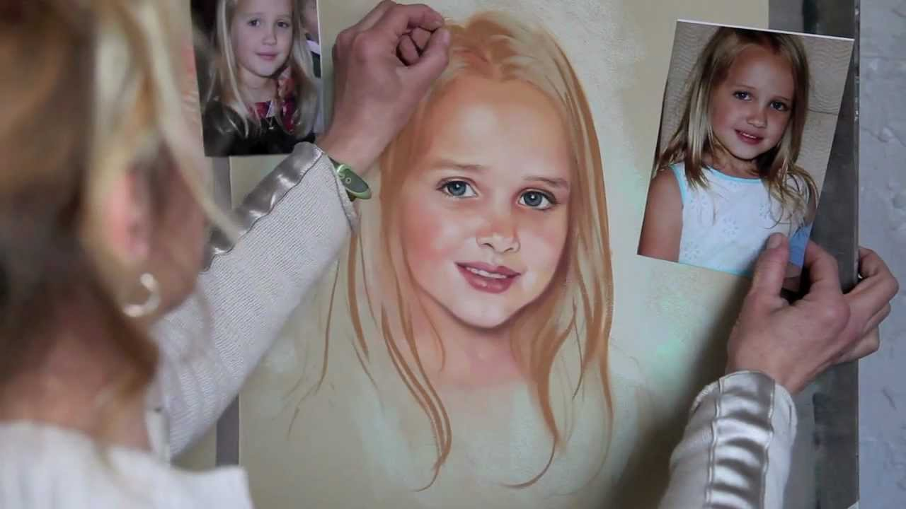 How to paint a pastel portrait step by step youtube ccuart Images