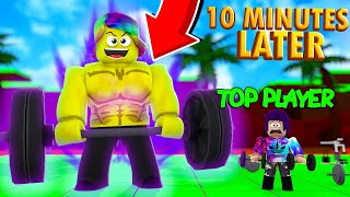 I Become a WEIGHT LIFTING GOD and DESTROY THE TOP PLAYER (Roblox Simulator)