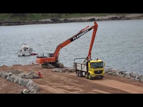 Work at Nigg Bay for Aberdeen Harbour Expansion Project (AHEP)