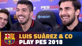 Luis Suárez leads Barça's Hilarious 6 Player Pro Evo Challenge!