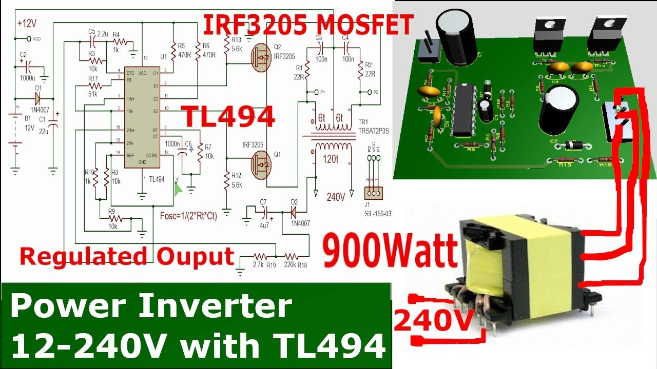 Make A Power Inverter With Tl494