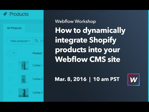 Webflow Workshop #31: How to dynamically integrate Shopify products into  your Webflow CMS site