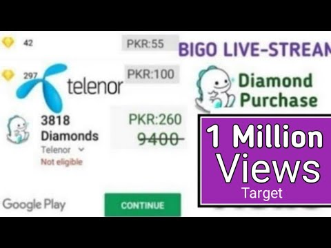 How To Use Telenor Billing Purchase Bigo Diamonds & Play Store Paid Easy On Youtube