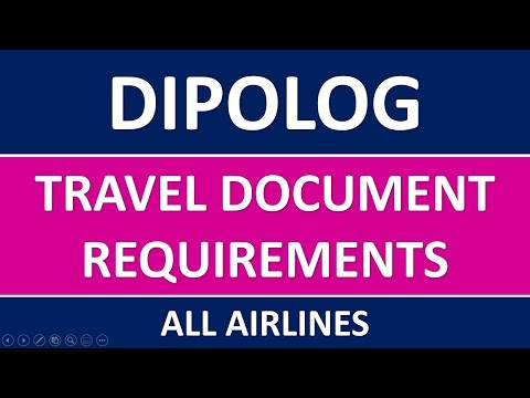 DIPOLOG Travel Requirements