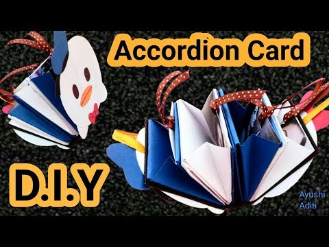 How to make Accordion Card | Christmas Card Ideas | Photo Card Maker |