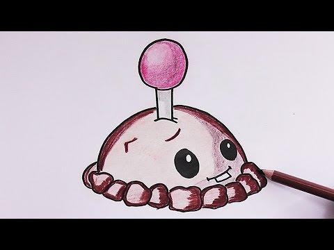 Dibujando Y Coloreando Mina De Patata Plantas Vs Zombies