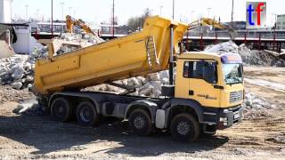 MAN TGA Dump Truck Dumping / 4a Kipper, Germany, 2015.