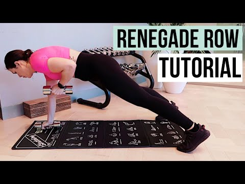 RENEGADE ROW EXERCISE ⎮ Advanced Plank Exercise Variation⎮ PLANKMAS DAY 15