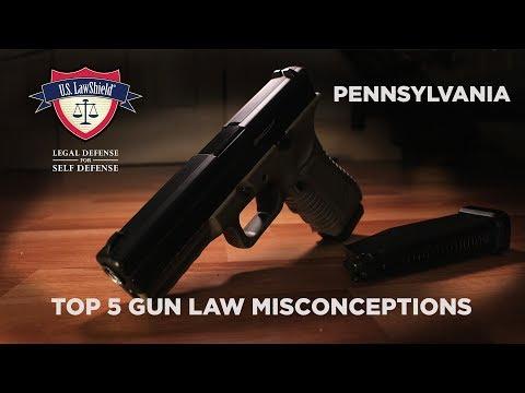 Top 5 Gun Law Misconceptions PENNSYLVANIA