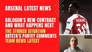 Balogun's new Arsenal contract and what happens next, Arteta's Partey comments and team news