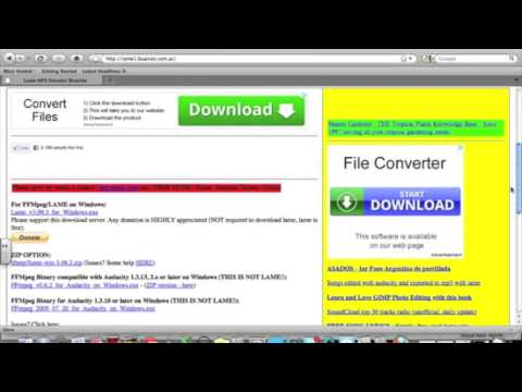 Audacity mp3 plug-in for MAC tutorial
