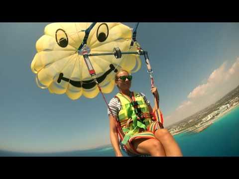 Ayia Napa Cyprus JetSki and Parachute Travel to Cyprus/Лучший остров Кипр Айя Напа Парашют