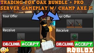 GETTING HALF OF THE OAK BUNDLE FOR FREE? (ROBLOX ASSASSIN OAK BUNDLE TRADES + GAMEPLAY)