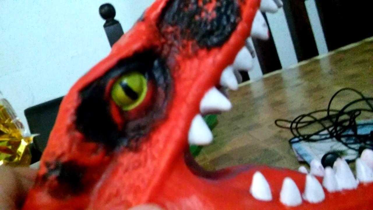 mascara de dinosaurio - youtube