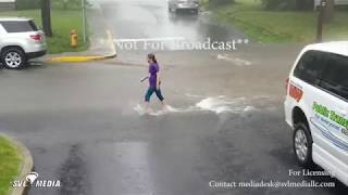 Bluffton, Indiana - Torrential Rain And Street Flooding - June 22nd, 2018
