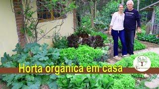 Horta orgânica em casa pelo calendário Lunar, produção saudável e de qualidade