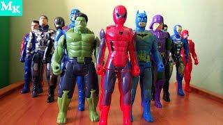 Супергерои Marvel. Коллекция игрушек. Человек-Паук, Халк, Капитан Америка