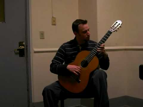 "Jim Perona plays Carcassi's ""Etude 25"" on classical guitar.   Jim Perona is a graduate student at the New England Conservatory of Music, currently studying with world-renowned guitarist Eliot Fisk."