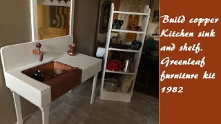Kitchen shelf and sink diy greenleaf furniture kit 1982 Downton Abbey style