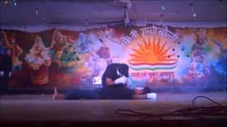 mime show on stop women harrassmentby kv gachibowli 10th class students