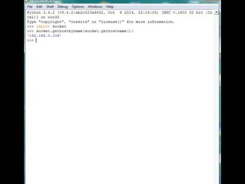 get host ip with python 3 -  windows