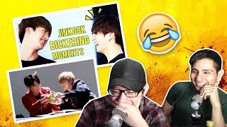 GUYS REACT TO BTS 'JIN & JUNGKOOK BICKERING MOMENTS (JINKOOK)'