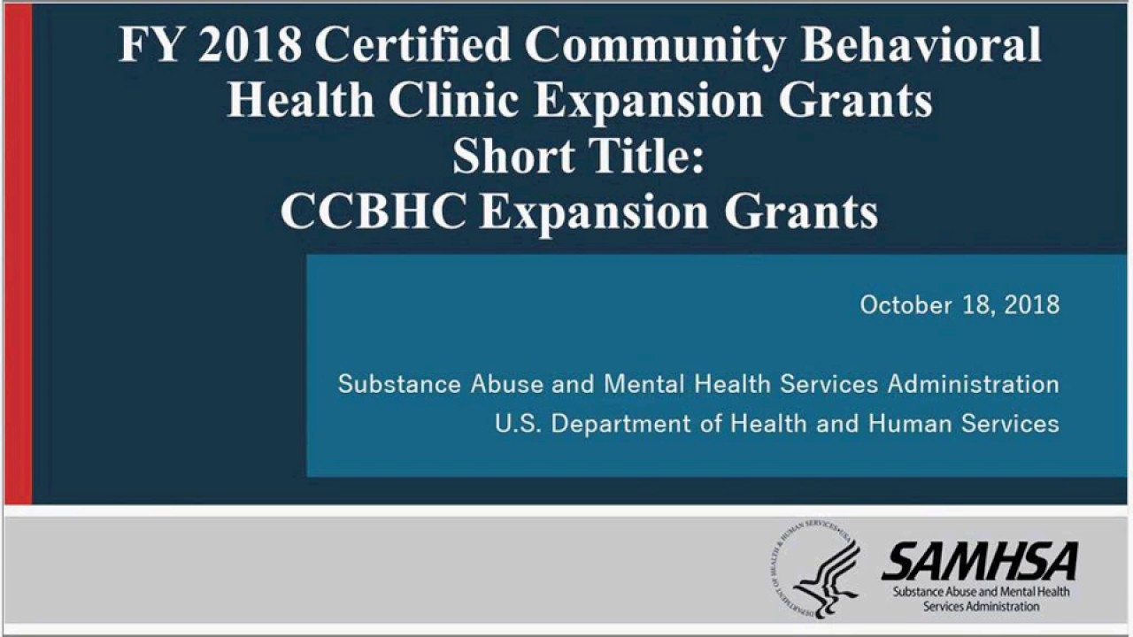 Certified Community Behavioral Health Clinic Expansion Ccbhc E