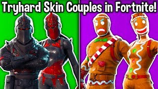 10 COUPLES DE PEAU TRYHARD À FORTNITE!