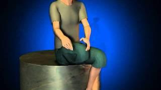 De la la severo amputación después de pierna dolor
