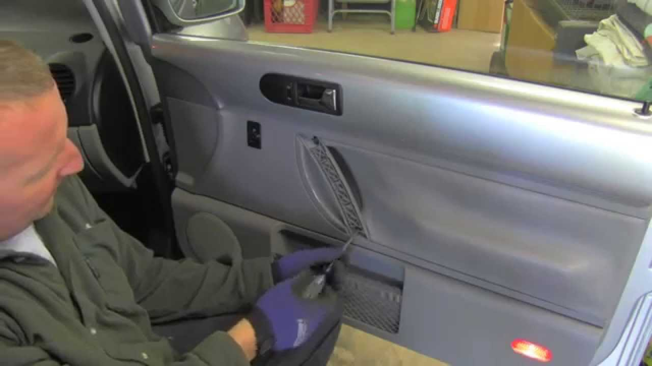 door panel removal VW Beetle - YouTube