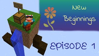 Let's Play New Beginnings - Ep. 1: a Minecraft 1.10 Skyblock by DrasticDemise