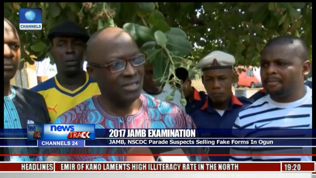 2017 JAMB Examination: JAMB, NSCDC Parade Suspects Selling Fake Forms In  Ogun