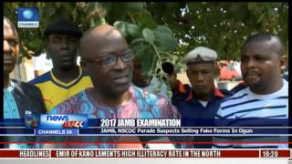 2017 JAMB Examination: JAMB, NSCDC Parade Suspects Selling Fake Forms In Ogun Free HD Video