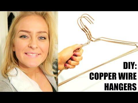 VLOG | DIY COPPER WIRE HANGERS