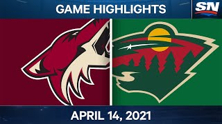 NHL Game Highlights | Coyotes vs. Wild - Apr. 14, 2021