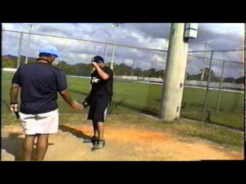 Ambidextrous pitcher Ryan Perez evaluated left-han...